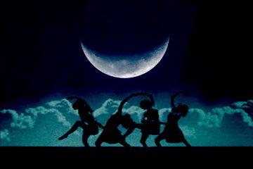 freetoedit moon women shapes dance