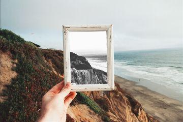 b color frame beach freetoedit
