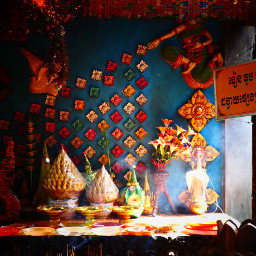 buddhism colorful colors cambodia photography dpcfeast pccolorful