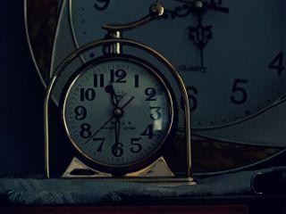 myphotography clock dark time vintage