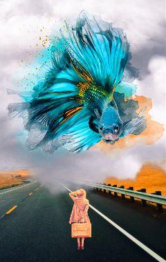 vipshoutout myremix girl fish dreamy