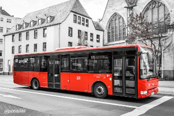 photography colorsplash travel red bus