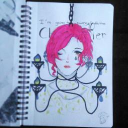 freetoedit anime animegirl sia chandelier