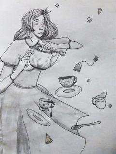 inktober inktober2017 poisonprompt tea drawing