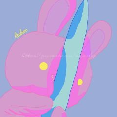 bunny knife aesthetic pink saturated