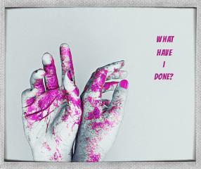 amnesia horror typography pinkandwhite hands