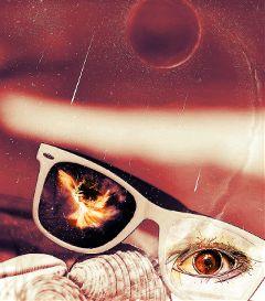 colorsplash eye woman glasses space freetoedit