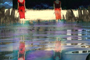 reddressremix mirroreffect colors reflection nature freetoedit