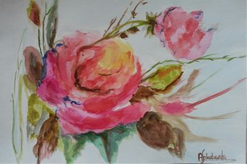 freetoedit mywatercolor myhand flowers rose