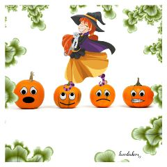 freetoedit halloween pumpkin emoji cute