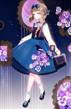 cute animegirl beautiful digital art