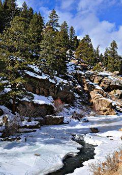 freetoedit nature rivers snow colorado