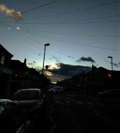 freetoedit sky road car sunset