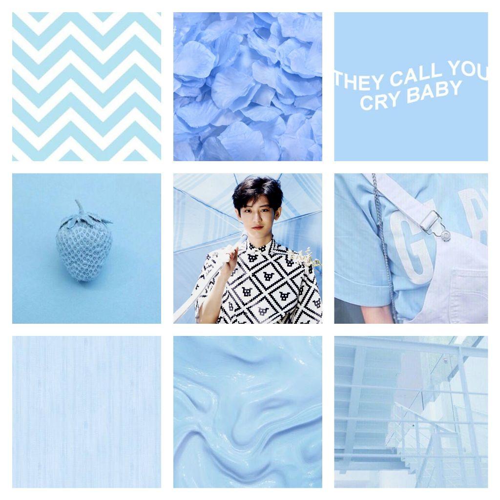 Exo Park Chanyeol Blue Wallpaper Aesthetic