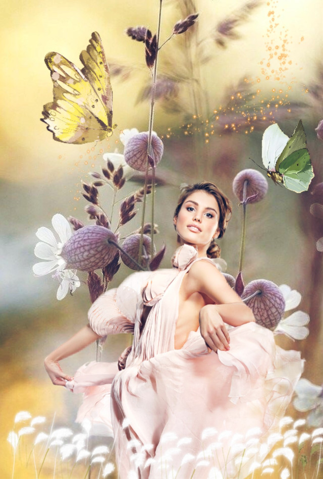 remixed from ... background :@belier76  woman : @bladeaks1 #myedit #madewithpicsart #people #woman #girl #flower #butterflies