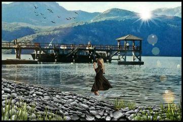 lago lake paisaje emotionsremix madewithpicsart freetoedit
