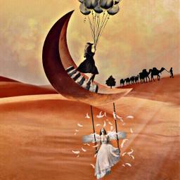 freetoedit stairwaytoheaven angel desertlife swing