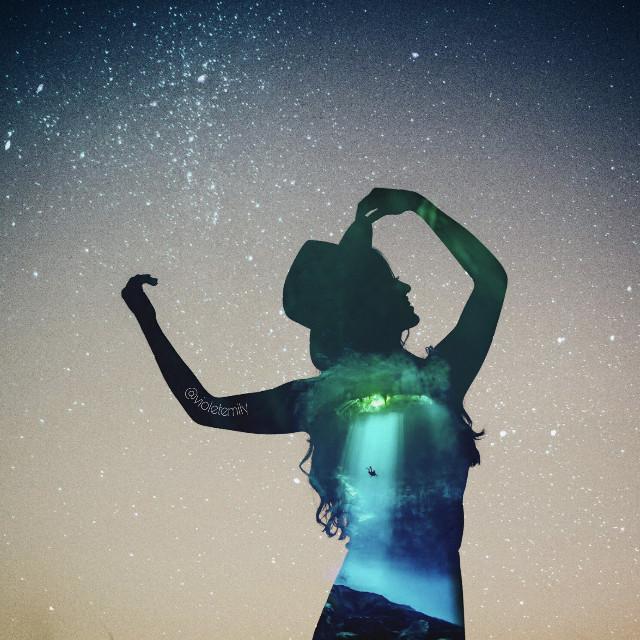 Instagram➡vio_emy      #ocean #doubleexposure #silhouette #water #myedit