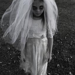 haloween ghost bride