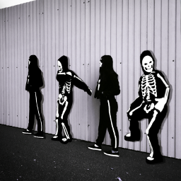 freetoedit skeletons perspective colorchange madewithpicsart