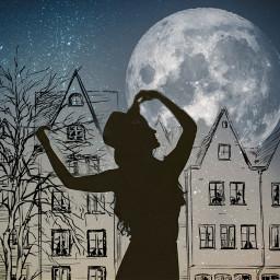 freetoedit magic magicalmoon moon towncenter