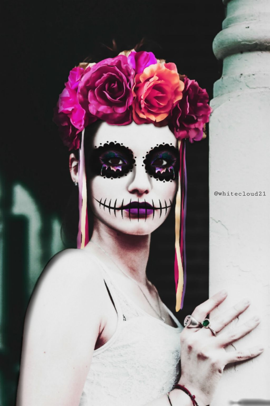 #dayofthedead #myedit #halloween #girl #madewithpicsart #madebyme
