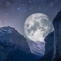 freetoedit space moon stars