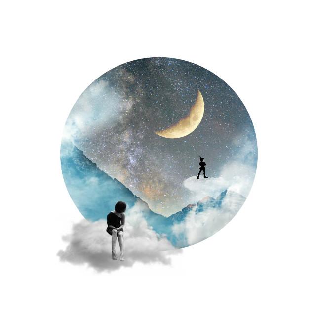 #edited #doubleexposure #stars #moon #galaxy FEAT #clouds #mountain # Op @jujubeeartology @hanoodxx @_cray_cray_kay_kay @hassaann771