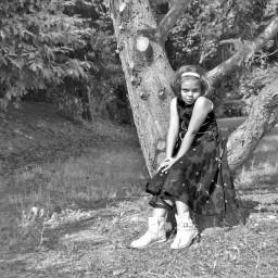 blackandwhite retro portrait