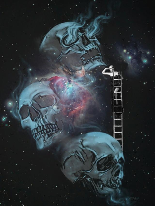 #galaxyremix #darkart #skull #myartwork
