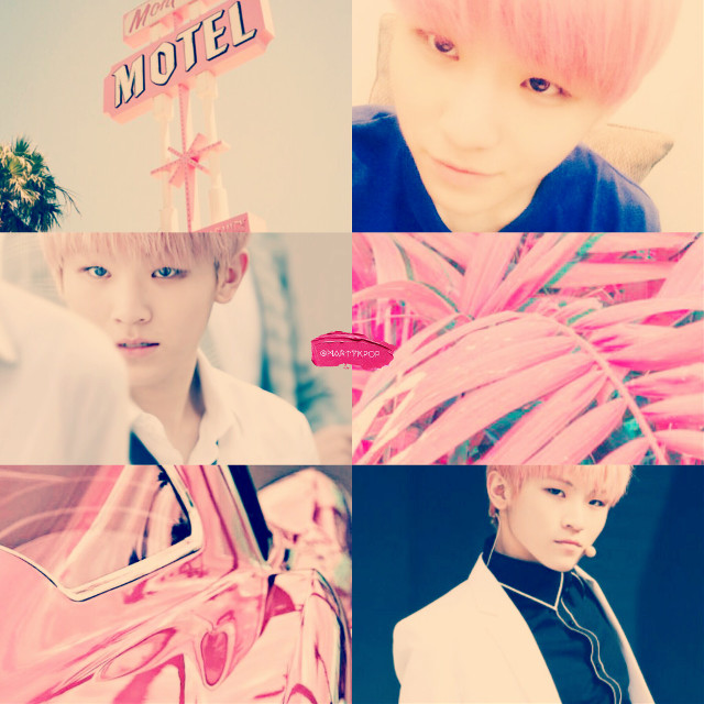 This is my new woozi collage🌸 I do edit and collage on request🌸