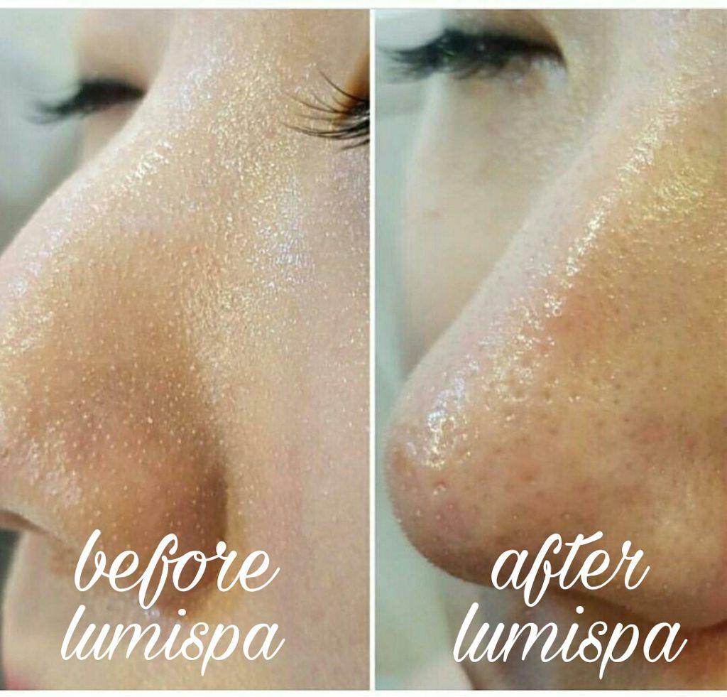Before after lumispa lumispa cleanser mua makeup makeup