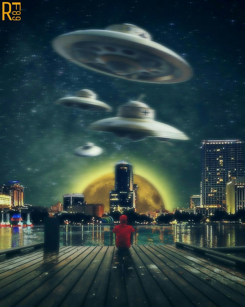 THIS IS THE END  @freetoedit pic edited by me ✌  #editstepbystep #manipulation #ufo #madewithpicsart #rf89