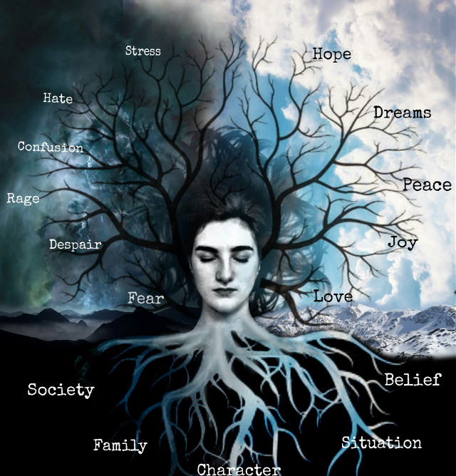 "#darkart #emotional #feelings #cold #mysterious #epic #girl #surreal #beauty #truth  ""Tree of Emotions ""  Hello everyone! :) So nice to be here again;)"