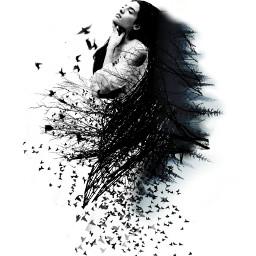 surrealism darkart emotions girl mysterious freetoedit