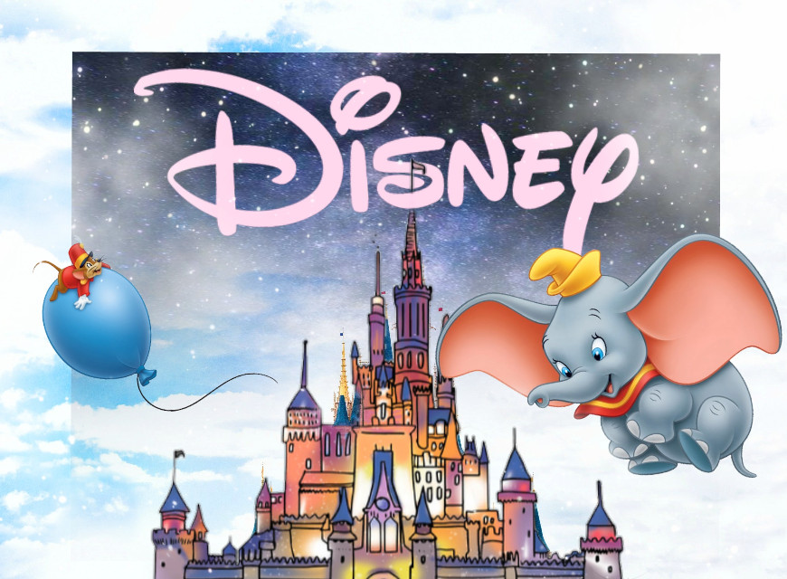 Something fun. Add your favorite Disney character.  #disney #dumbo #castle #imagination #galaxy #sky #clouds #fantasy #pa #picsart