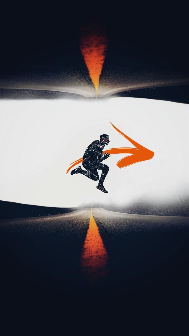 #man#jump#arrow#road#remixit @pa