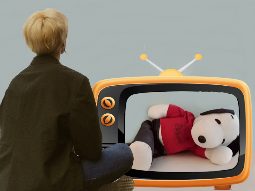 #snoopy #watching #tv