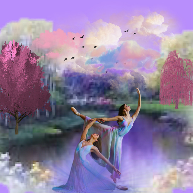 #dancers #nature #dreamy #colors #colorful #myedit #madewithpicsart