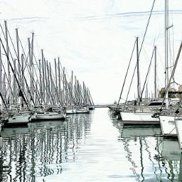 greece sea boats bnw