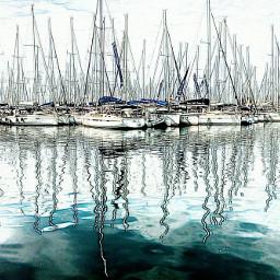 greece bnw sea boats color