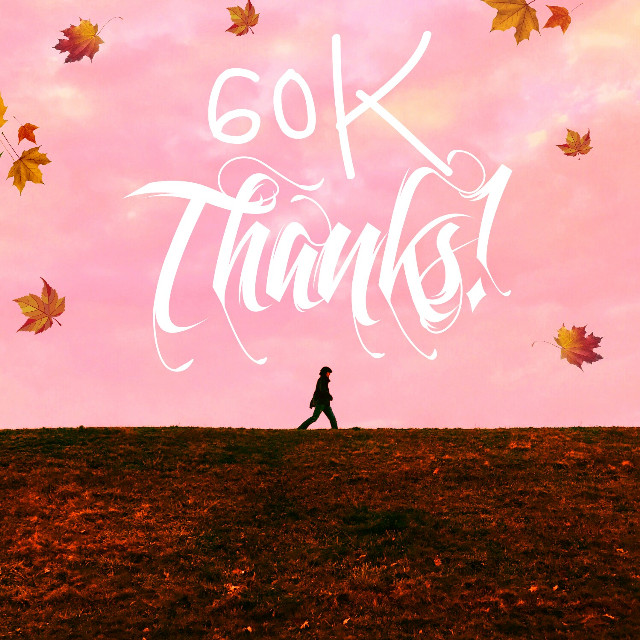 Yayy! 60k thanks guys ❤😍    #FreeToEdit #autumn #fall #minimal #sky #sunset #picsart #madewithpicsart