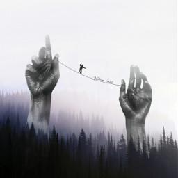 surreal forest nature hands darkart freetoedit