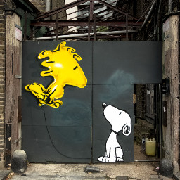snoopy streetart wallart graffitiwallslondon graffiti
