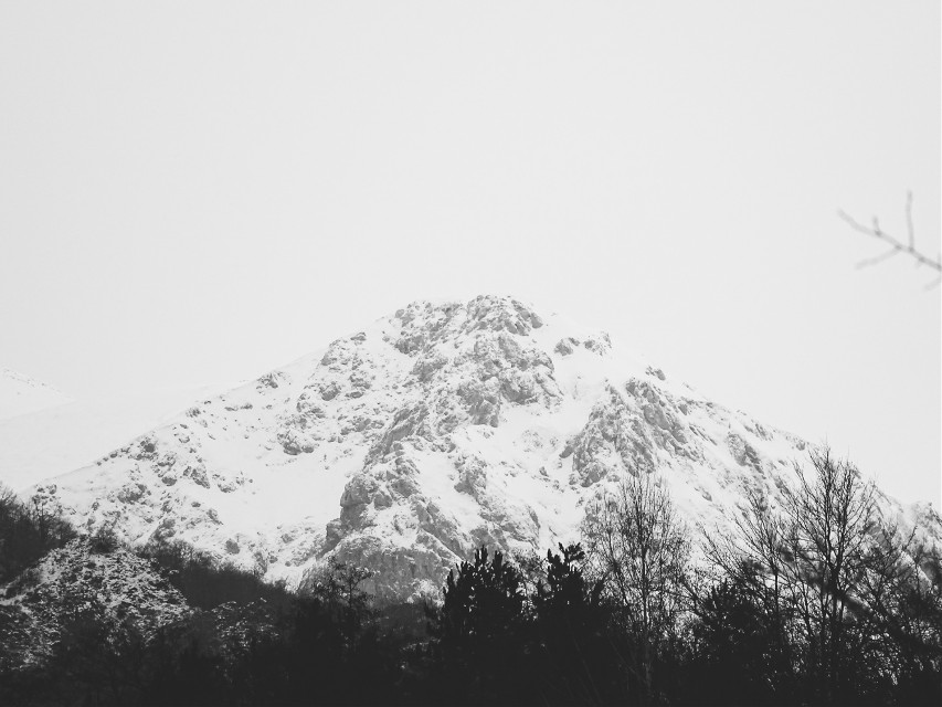 #winter #photography  #mountain #forest #sky #picsart @pa  @freetoedit