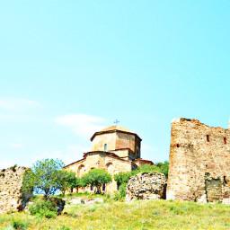 georgia tbilisi green sky love freetoedit