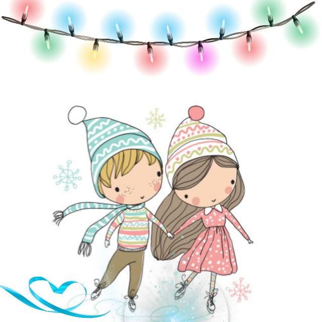 #dailystickerremix #christmaslights #lightsstickerremix #skaters #cute