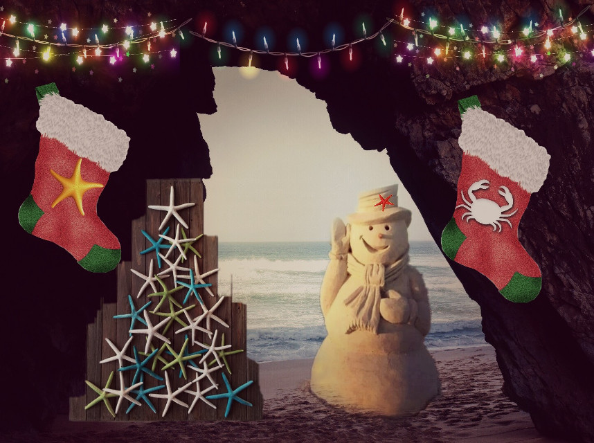 #dailysticker #snowman #oceanviewremix #twilighteffect #christmas #winterdecor #lightsstickerremix