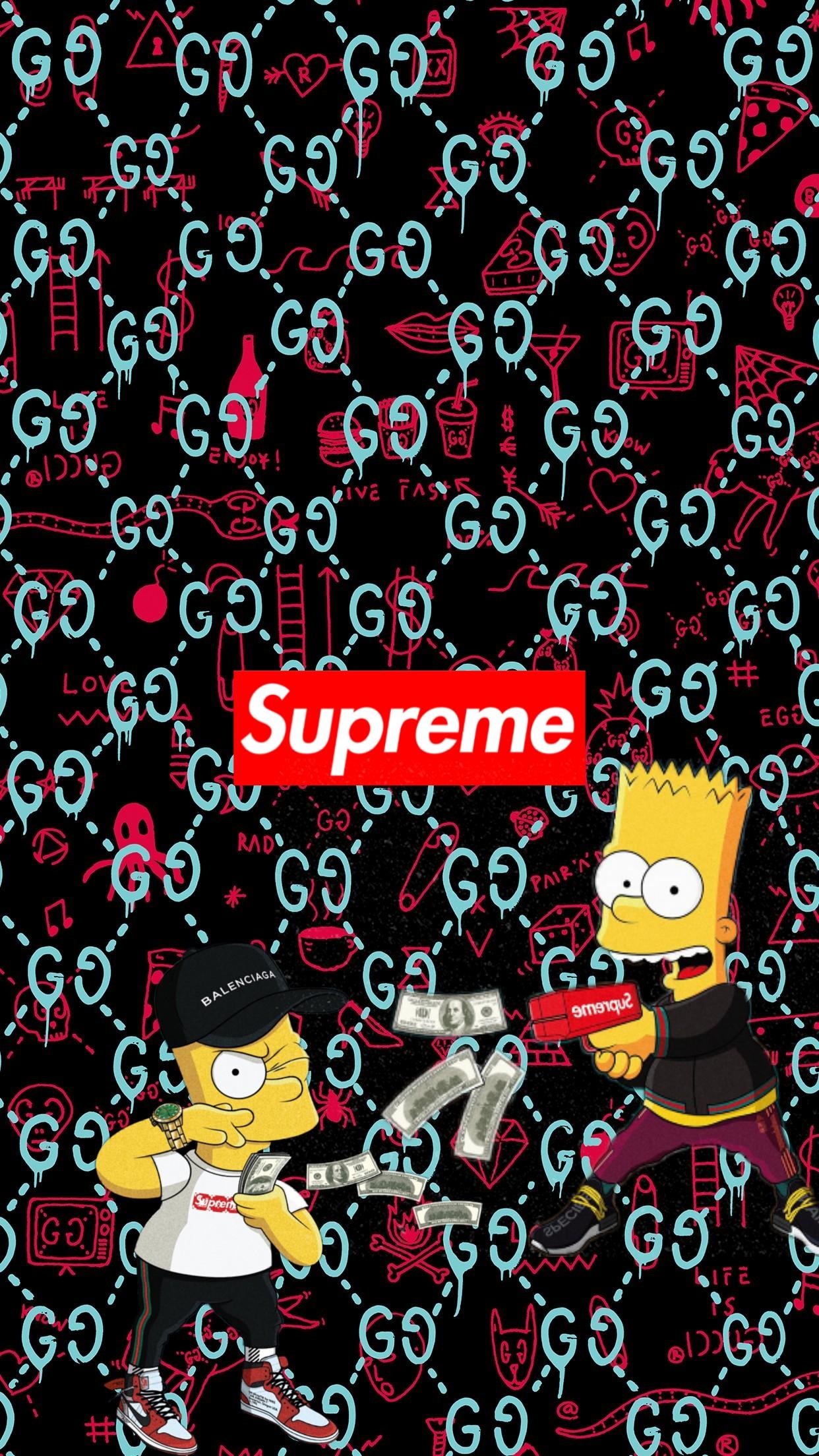 Supreme Bape Simpsons Image By Adellah048