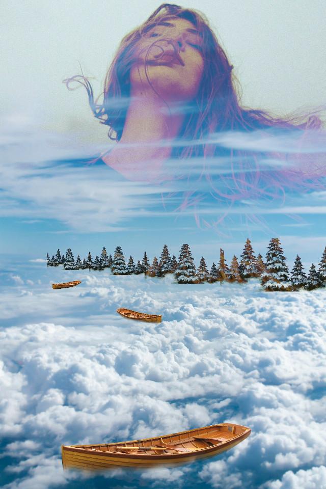 #myedit #editedwithpicsart #lady #cloud